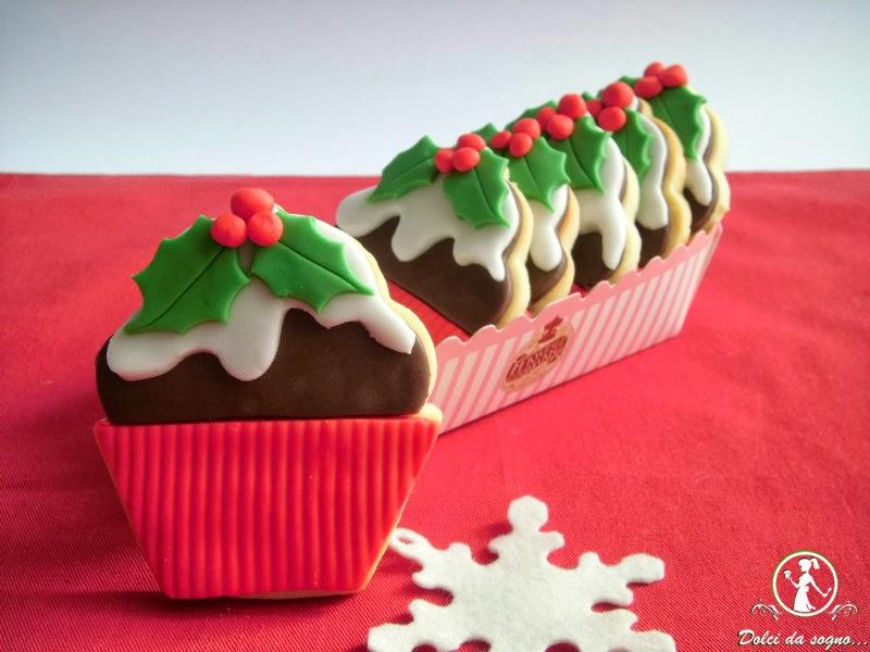 Christmas pudding cookies