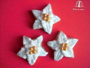 biscotti stella di natale con ghiaccia