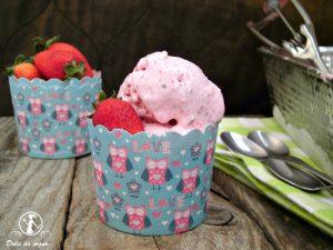 gelato alla fragola fatto in casa