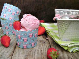 gelato alle fragole homemade