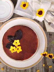 tiramisù cheesecake con fiori in pdz