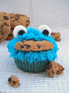 Cupcake mostro dei biscotti