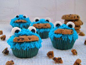 cookies monster cupcakes