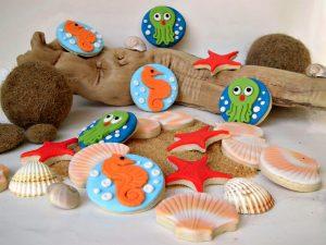 biscotti decorati creature del mare