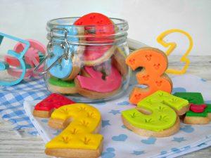 biscotti numerati con fondant
