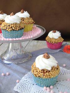cupcake con cioccolato e nocciole