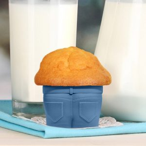 Stampi per Muffin in Jeans – set da 4