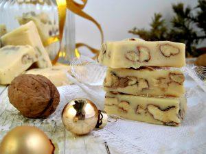 Fudge al cioccolato bianco e noci