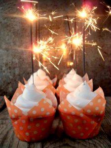 Cupcakes scintillanti per capodanno