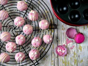 pink cake balls