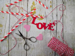 cake topper bandierine Love