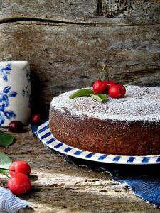 torta quattro quarti con ciliegie