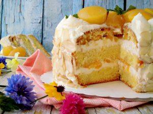 torta con le pesche
