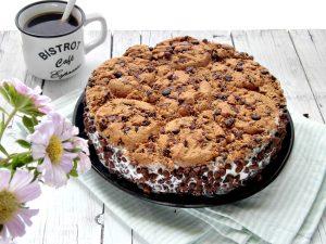Cookies torta gelato senza cottura chocolate chip cookies ice cream cake no-bake