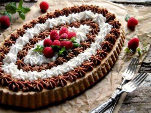 Crostata ai due cioccolati con dulce de leche