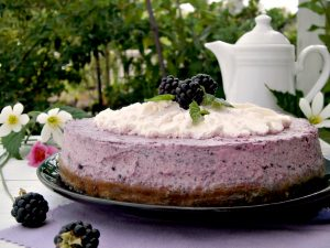 Cheesecake alle more senza cottura