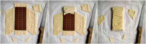 Treccia di pasta sfoglia e cioccolato