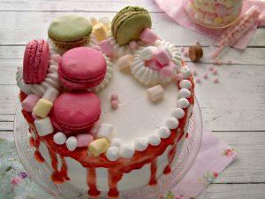 Pink Drip cake con gelatina di mele cotogne