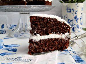 golosa torta con cocco cacao e panna in collaborazione con GreenGate