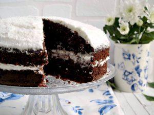 Ricetta in collaborazione con azienda danese GreenGate: torta cocco cacao e panna