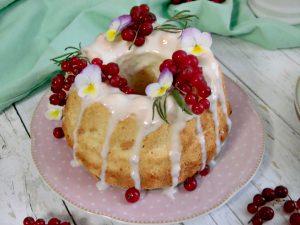 mini angel cake con glassa al limone