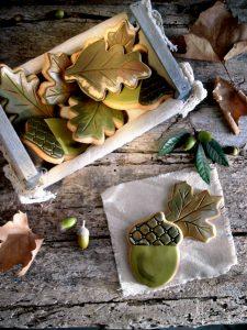 Biscotti foglie autunnali