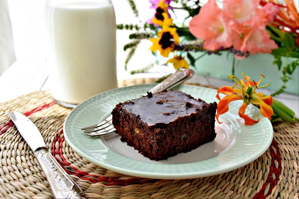 Brownies di zucchine