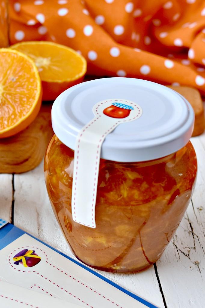 Marmellata di arance con zucchero di canna