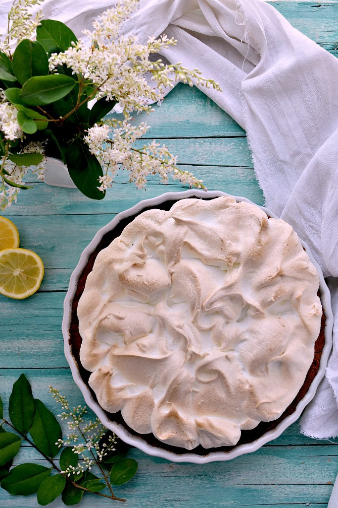 Crostata meringata al limone o Lemon meringue pie