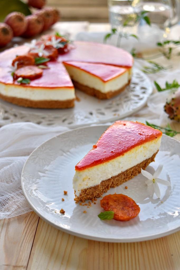 Cheesecake ai fichi d'india