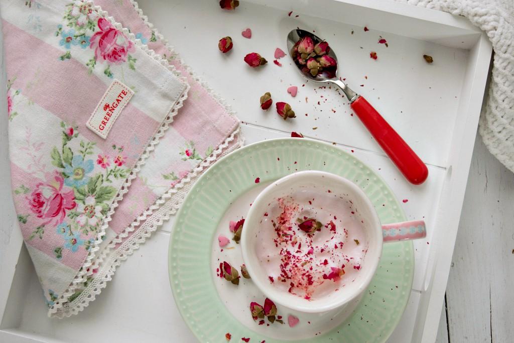 cappuccino alla rosa