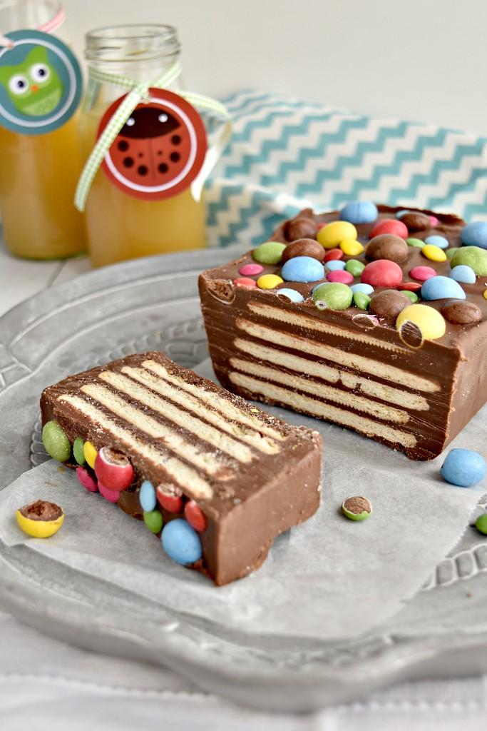 Mattonella di biscotti e cioccolato
