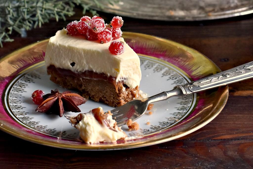 Gingerbread cheesecake , il dolce di Natale senza cottura