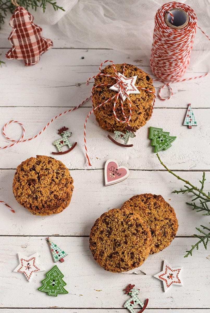 Biscotti con avena e cocco