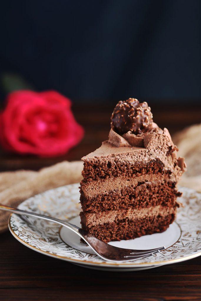 Torta di compleanno al cacao