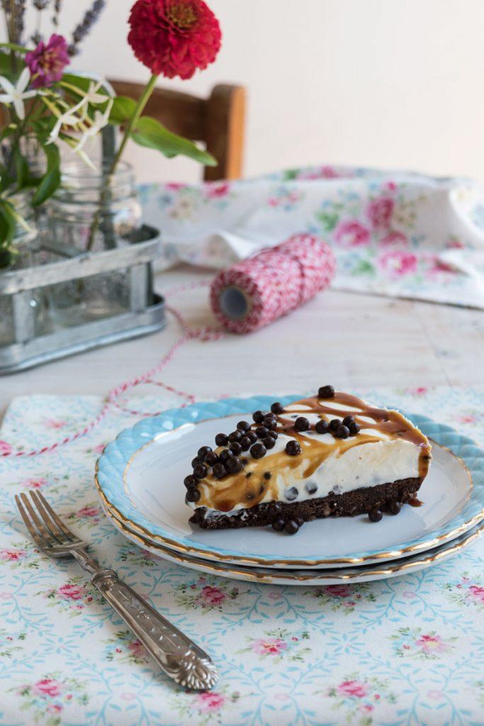 cheesecake stracciatella Torta fredda al mascarpone con gocce di cioccolato