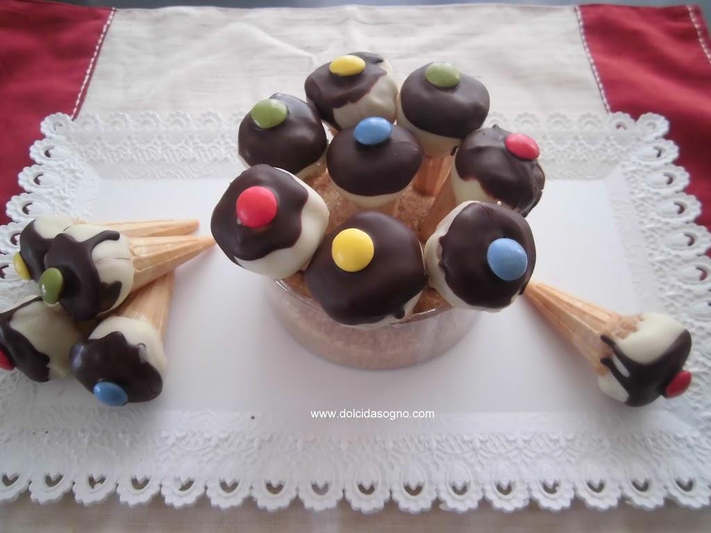 Mini gelati al cocco