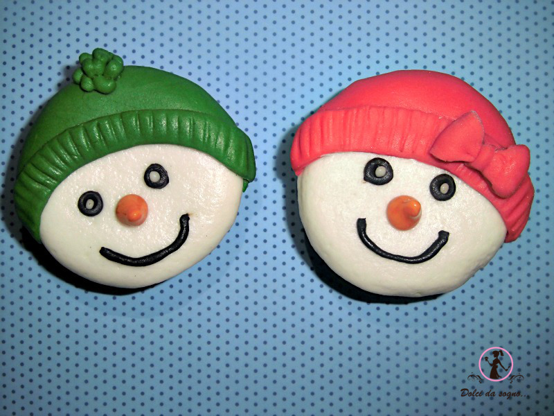 Come fare simpatici cup cake snow man