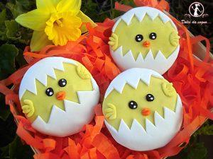 Pulcino cupcake per Pasqua (foto tutorial)