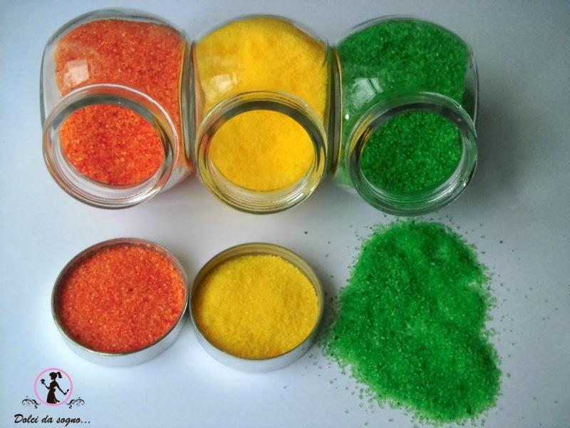 Come colorare lo zucchero