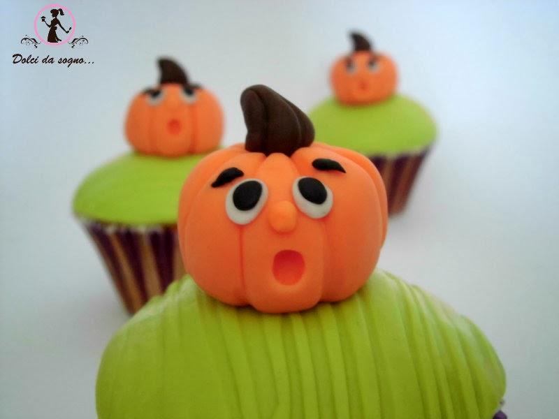 Cupcake con zucca di Halloween