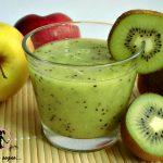 frullato di mele e kiwi