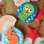 biscotti decorati abitanti del mare