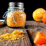 Polvere di bucce di arancia