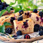 Torta soffice con le more