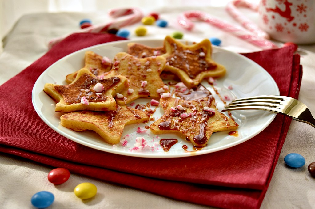 Stelle di pancakes per i giorni di festa