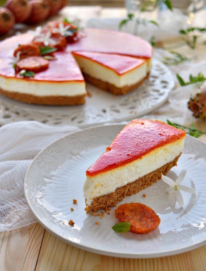 Cheesecake ai fichi d'india, una vera bontà!