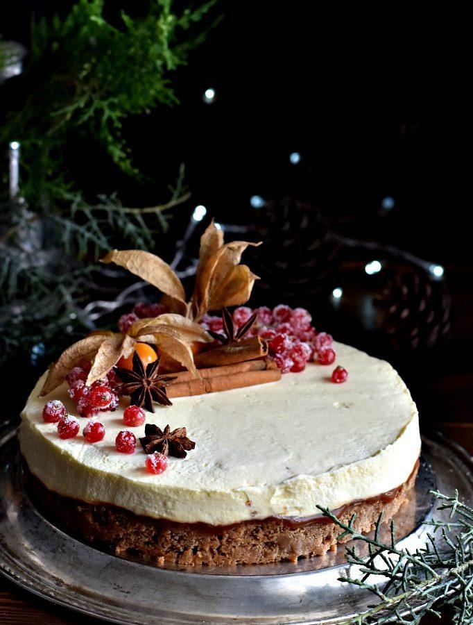 Gingerbread cheesecake, il dolce di Natale senza cottura