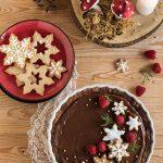 Crostata natalizia con crema al cioccolato