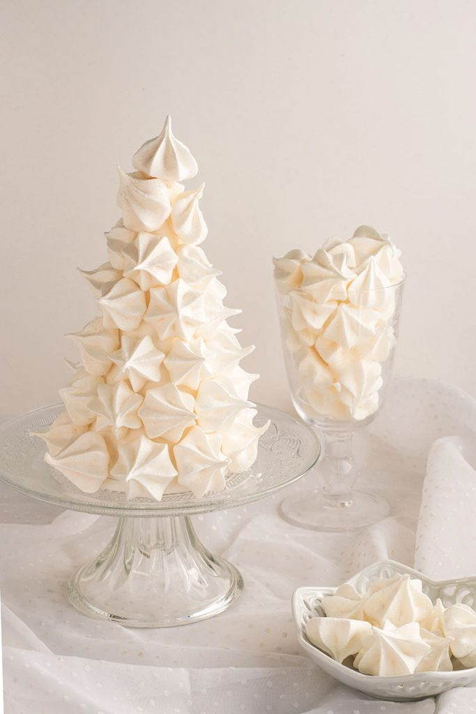 Christmas meringue tree